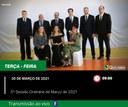 5ª Sessão Ordinária do Mês de Março de 2021